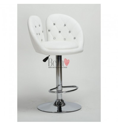 Classic White High Makeup chairs for makeup salon and beauty salon. High Salon Chair BFHC111W