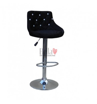 Black Velour High Makeup chairs for makeup salon and beauty salon velour BFHC931