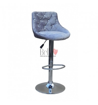 Grey Velour High Makeup chairs for makeup salon and beauty salon grey velour BFHC931
