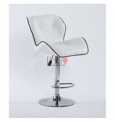 Bella Furniture white High Chairs for Salons in Ireland BFHC1062