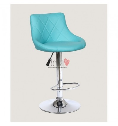 Turquoise High Makeup chairs for makeup salon and beauty salon. BFHC1054