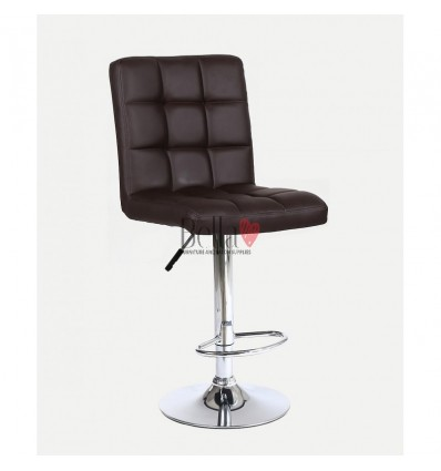 Classic Brown High Chairs for Salons in Ireland - Brown BFHC1015
