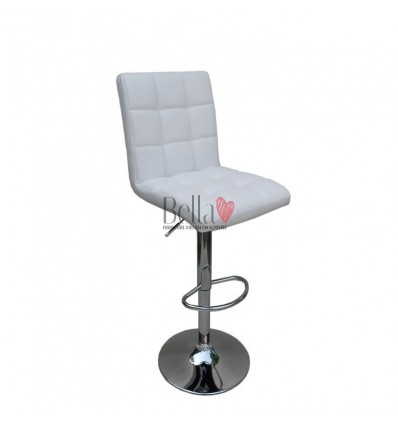 Classic White High Chairs for Salons in Ireland- White BFHC1015