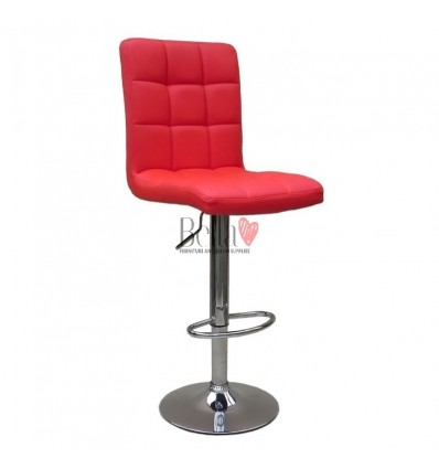 Classic Red High Chairs for Salons in Ireland - Red BFHC1015
