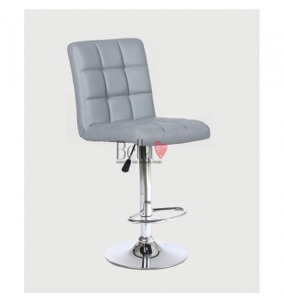 Classic Grey High Chair for Salons in Ireland - grey BFHC1015