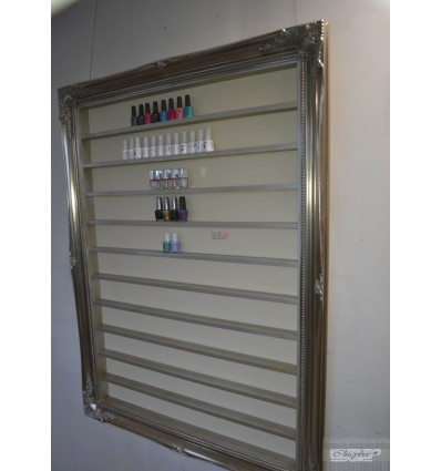 EXTRA LARGE NAIL POLISH DISPLAY FRAME CHAMPAGNE SILVER
