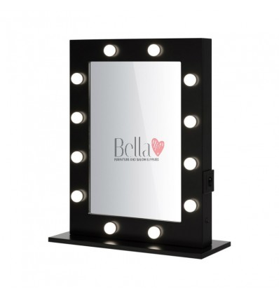 Makeup mirrors Ireland. Professional makeup mirror with bulbs. Hollywood Mirror Black