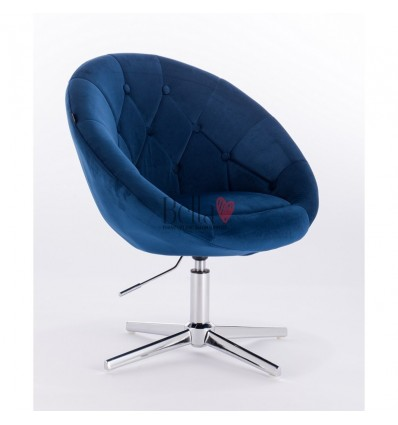 stylish blue chairs for beauty salon Hroove Salon Chair - Blue BFHR8516
