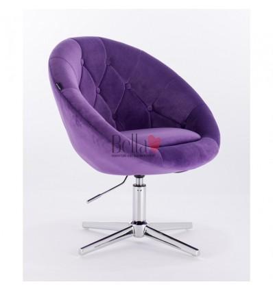 purple velour chairs for beauty salon. Hroove Salon Chair - Purple BFHR8516