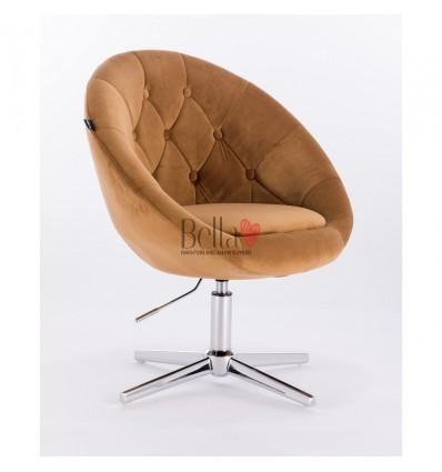 Carmel colour velour chairs for sale. Hroove Salon Chair - Carmel BFHR8516
