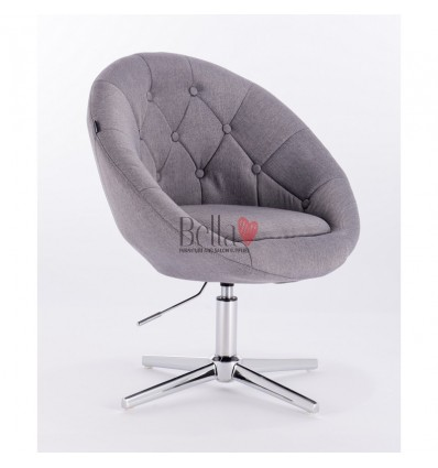 light grey salon chairs. Hroove Salon Chair - Cream BFHR8516