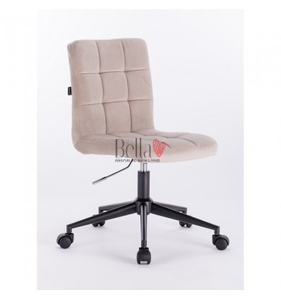 beige chair on wheels. Hroove Salon Chair on Wheels - beige BFHR7009K