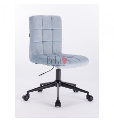 Light blue chairs on wheels for beauty salon. Hroove Salon Chair on Wheels - light blue BFHR7009K