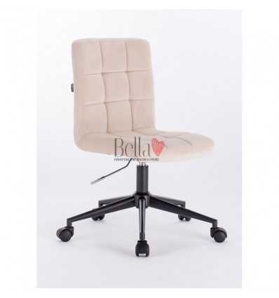 Hroove Salon Chair on Wheels - cream colour chairs for nail salon BFHR7009K