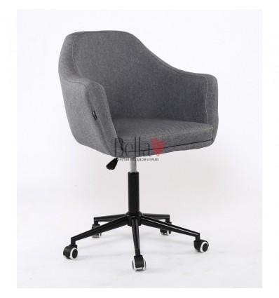 Hroove Salon Chair - Grey classic salon chair on wheels Dublin Ireland BFHR830