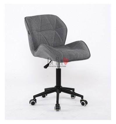 Hroove Salon Chair on Wheels - Grey BFHR111K