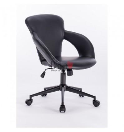 Hroove Salon Chair on Wheels - Black chair for salons BFHR350