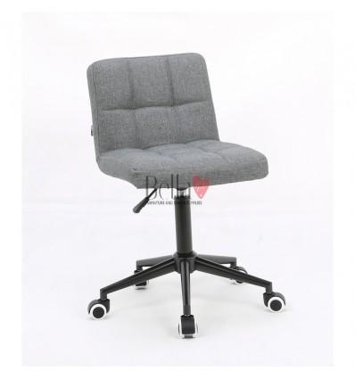 Hroove Salon Chair on Wheels - White chairs on wheels BFHR1015K