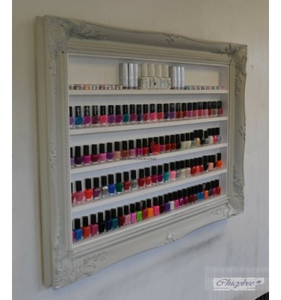 Nail Polish Display Frame - Shabby Chick Grey