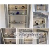 GREY CHROME - BEAUTY DISPLAY CABINET LED ILLUMINATED