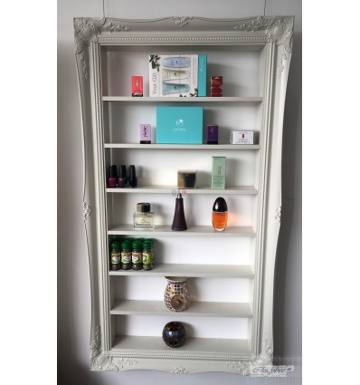 WHITE DISPLAY CABINET - FOR STORING RETAIL ,BEAUTY PRODUCTS