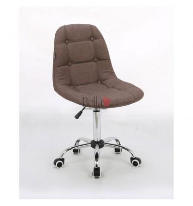 Hroove Chair on wheels chrome - Brown BFHC1801K
