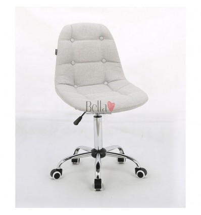 Hroove Chair on wheels chrome - White BFHC1801K
