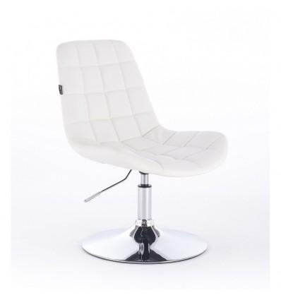 Hroove Salon Chair - White Leather Bella Furniture Ireland BF590N