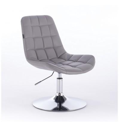 Hroove Salon Chair - Grey Leather Bella Furniture Ireland BF590N