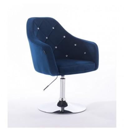 Hroove Salon Chair - Blue Velour Bella Furniture BFHR830