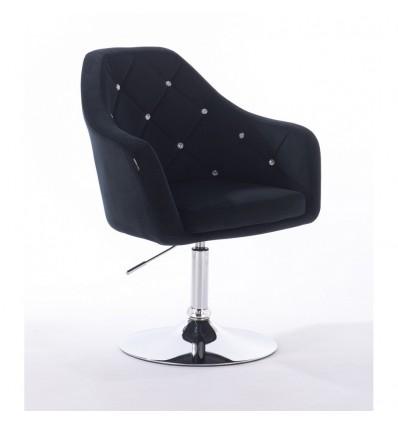 Hroove Salon Chair - Black Velour Bella Furniture BFHR830