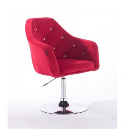 Hroove Salon Chair - Pink Velour Bella Furniture BFHR830