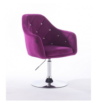Hroove Salon Chair - Dark Purple Velour BFHR830