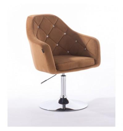 Hroove Salon Chair - Carmel Velour Bella Furniture BFHR830