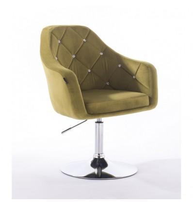 Hroove Salon Chair - Olive Velour Bella Furniture BFHR830