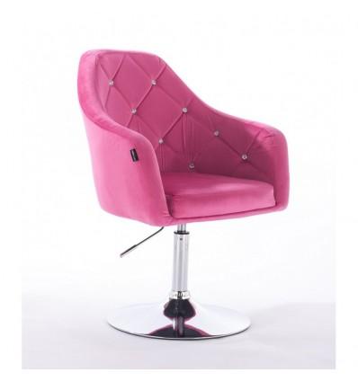 Hroove Salon Chair - Pink Velour Bella Furniture Ireland Scandinavian style BFHR830