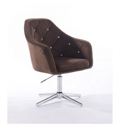 Hroove Salon Chair - Chocolate Velour BFHR830CROSS
