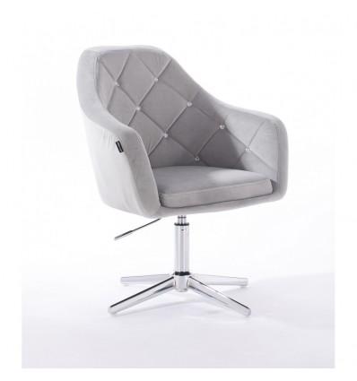 Hroove Salon Chair - Light Grey BFHR830CROSS