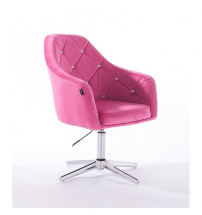 Hroove Salon Chair - Pink Bella Furniture Ireland BFHR830CROSS