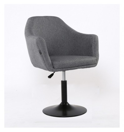Hroove Salon Chair - Tweed Grey Bella Furniture BFHR830