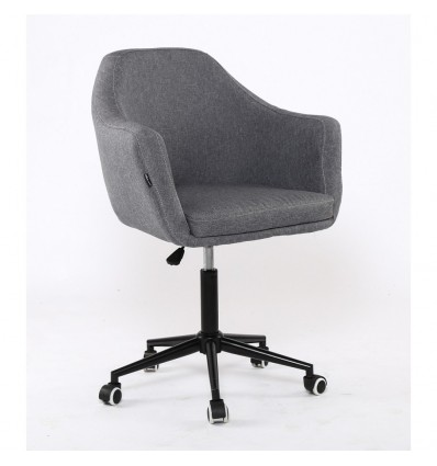 Hroove Salon Chair On Wheels - Tweed Grey BFHR830