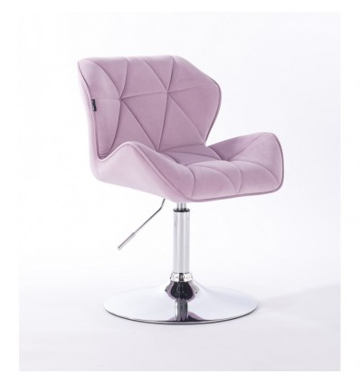 Hroove Salon Chair - Lavender Velour Bella Furniture Ireland BFHR111N