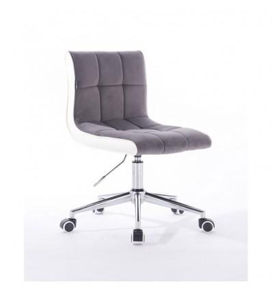 Hroove Chair On Wheels - Grey Velour Bella Furniture Ireland BFHR810K
