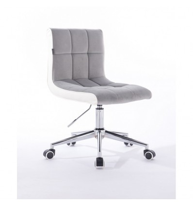Hroove Chair On Wheels - Light Grey Velour Bella Furniture Ireland BFHR810K