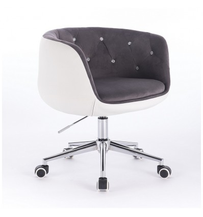Hroove Chair On Wheels - Grey Velour Bella Furniture Ireland BFHC333K