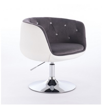 Hroove Chair On Wheels - Grey Velour Bella Furniture Ireland BFHC333N