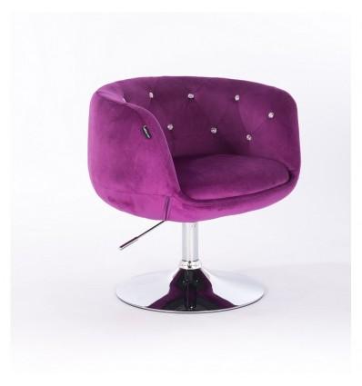 Hroove Salon Chair - Fuchsia Velour Bella Furniture Ireland BFHR333N