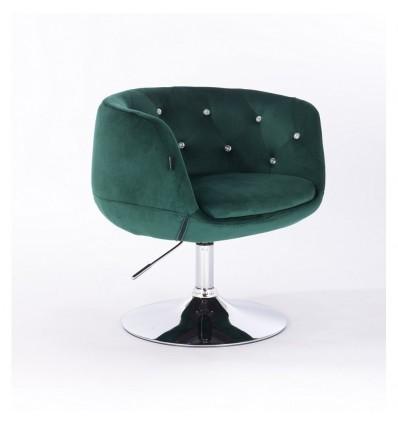 Hroove Salon Chair - Green Velour Bella Furniture Ireland BFHR333N
