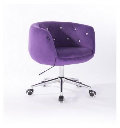 Hroove Chair on Wheels - Purple Velour Bella Furniture Ireland BFHR333K