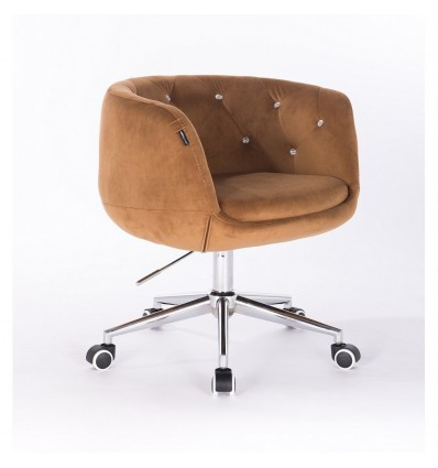 Hroove Chair on Wheels - Carmel Velour Bella Furniture Ireland BFHR333K